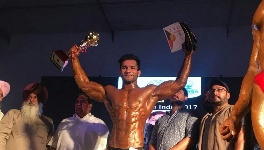Manav Rachna Student bags the title of Mr North India 2017 (1)