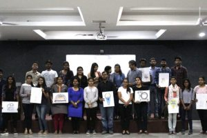 Art Event 'Memento Design Competition'The best way to bring a smile, is to present someone a gift which may never be forgotten. So, to present the same smile to our esteemed guests' at our campus, Department of Students' Welfare organized an Art Event 'Memento Design Competition' as part of INNOSKILL 2017 on 23rd and 24th March 2017.  The event comprised two rounds in which on Day 1 the design was portrayed on sheet of paper whereas on Day 2 the same design was made in a 3D structure. 35 teams took active participation in the competition and showcased their best innovative and creative ideas. These ideas were judged by Ms. Kusum Sharma, Art Teacher from Manav Rachna International School , Charmwood and Ms. Nidhi Didwania, Asst. Prof. Biotech., FET – MRIU on the basis of creativity, clarity, significance top 11 teams were selected for the next round. On the next day these winners gathered again where two and a half hour was provided to structure their art into a 3D model. Amongst the 11 teams, the best two memento designs were selected and were declared as the winners. Karan and Jasmandeep, 2nd yr B.Arch., FPA – MRIU won the first position followed by Snober and Manjima, 2nd yr BDS, MRDC. These designs were appreciated by the judge of the day, Ms. Kusum Sharma and winners were awarded with certificate of appreciation and trophies; whereas participation certificate was awarded to all.