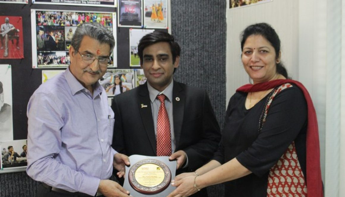 Manav Rachna Alumni Association invited Mr. Anshul Mudgal, Alumni of CITM, MBA