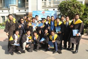 Meritorious students awarded at the first convocation of Manav Rachna University