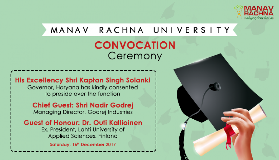 Manav Rachna University is organizing its First Convocation
