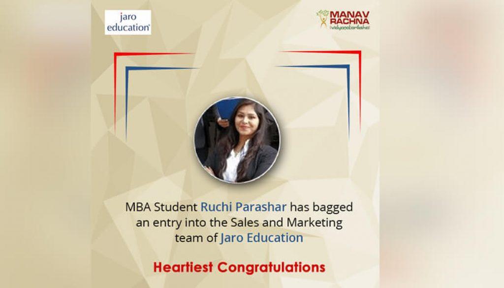MBA student joins Jaro Education
