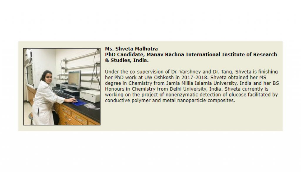 MRIIRS and UW-Oshkosh, USA to work on a joint research project