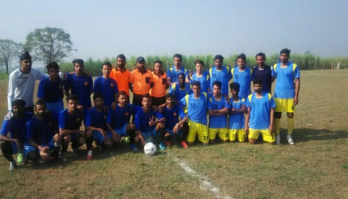 Students of MRIIRS (formerly MRIU) participated in North Zone Inter-University Football (M) tournament 2017-2018