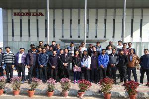Industrial visit to Honda Cars