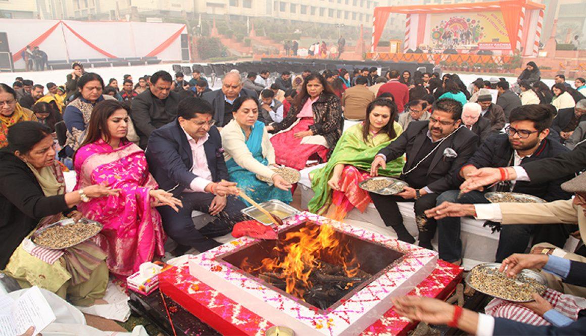 Manav Rachna Welcomes 2018 With Maha Mritunjaya Yajna
