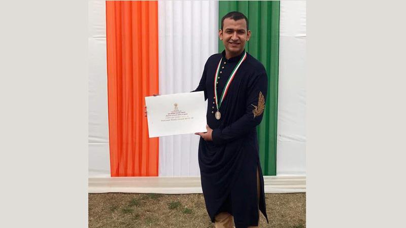 Manav Rachna Alumnus Receives National Youth Award