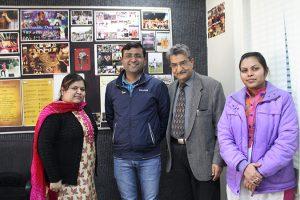 Alumni of B Tech visited MRIIRS Campus