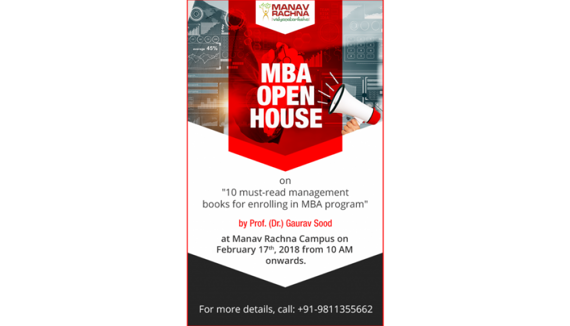 MBA Open House On 17th feb by MBA,MRIIRS