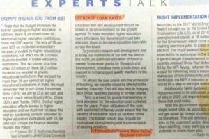 Expert Talks on Budget 2018 By Dr. Prashant Bhalla
