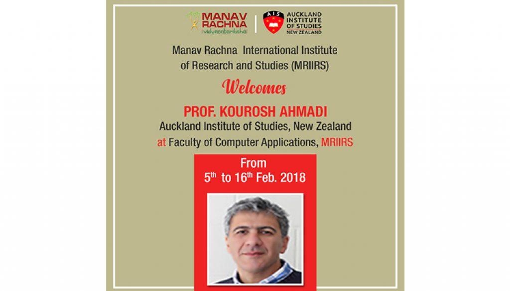 Prof Kourosh Ahmadi from AIS at MRIIRS