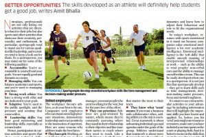 Article on Sports Experience penned by Dr Amit Bhalla,Deccan Herald