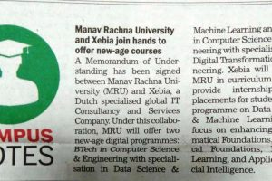 Manav Rachna University and Xebia Join Hands to Offer New-Age Courses