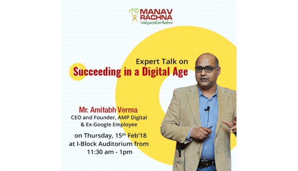 Expert Talk On Succeeding In a Digital Age on 15th feb