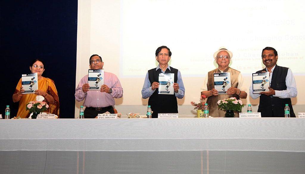 L to R- Dr Neemo Dhar, Dr. M K Soni, Dr. N C Wadhwa, Dr Chandra Mohan, Dr. K G Suresh