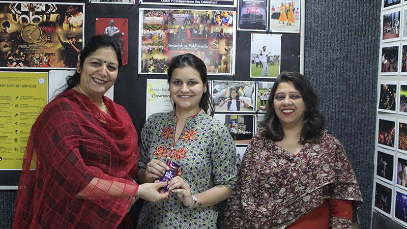 Alumna of FAS, MRIIRS visited Manav Rachna Campus
