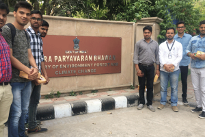 Students of Civil Department (Sem-VIII) visited Indira Paryavaran Bhawan