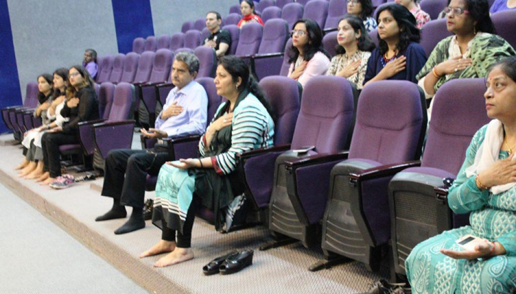Sahaj Yoga Meditation Session at Manav Rachna