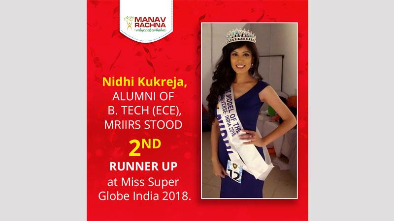 Alumni Achievement: 2nd runner-up at Miss Super Globe India 2018