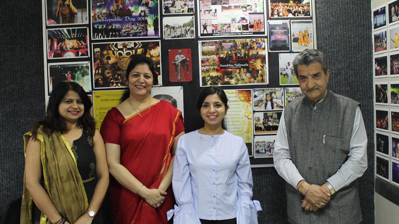 B.Tech BioTech Alumni visited Manav Rachna Campus