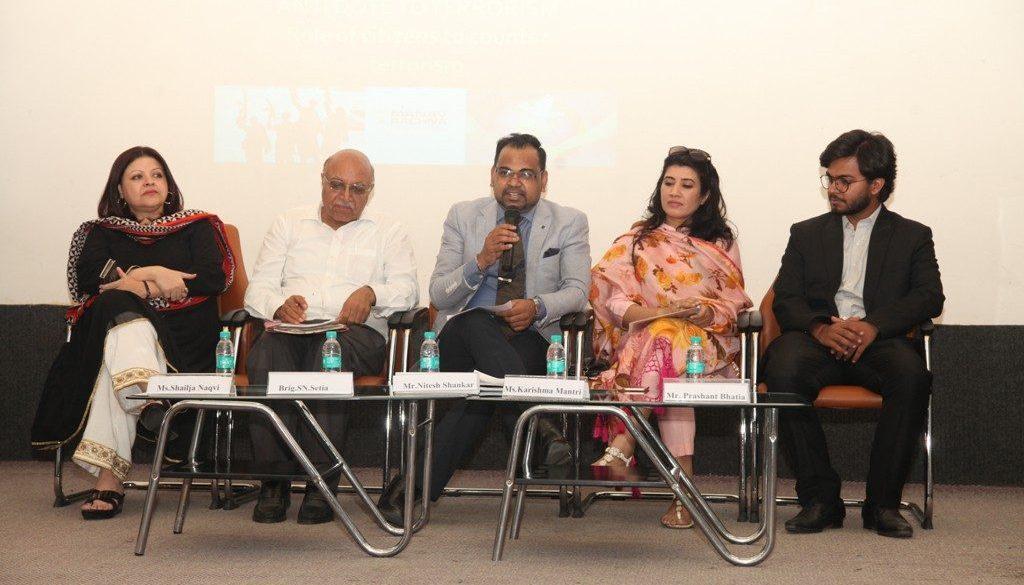 From Left- Ms. Shailja Naqvi, Brigadier (Retd.) Satindra Nath Setia, Mr. Nitesh Shankar, Ms. Karishma Mantri and Mr. Prashant Bhatia