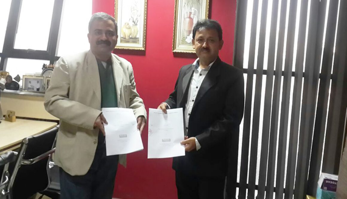 MoU between MRIIRS and Reinste Nano Venture Pvt. Ltd