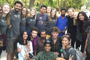 Student worked as a volunteer under International Citizen Service Programme
