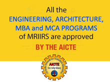 MRIIRS approved by AICTE