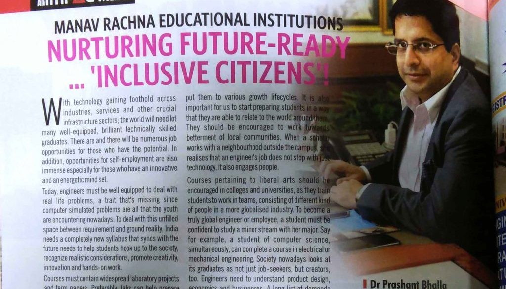 Article by Dr. Prashant Bhalla in Business World July Edition 2018