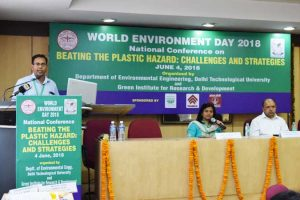 Technical session on 'Beating the Plastic Pollution' in Delhi Technological University