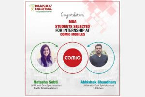MBA students bagged internships at Comio Mobiles
