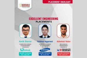 Mobikwik, Maruti Suzuki, and Samsung recruit Manav Rachna Students