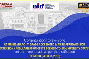 Excellent-NIRF-ranking