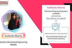 Selection of MRIIRS student under Technical Student Programme at CERN, Geneva, Switzerland