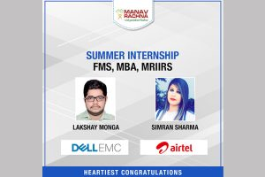 Summer Internship: MBA, FMS, MRIIRS