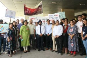 Anti-tobacco Walkathon on World No-tobacco Day at MRDC in association with ESIC Medical College