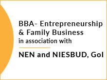 BBA - Entrepreneurship & family business