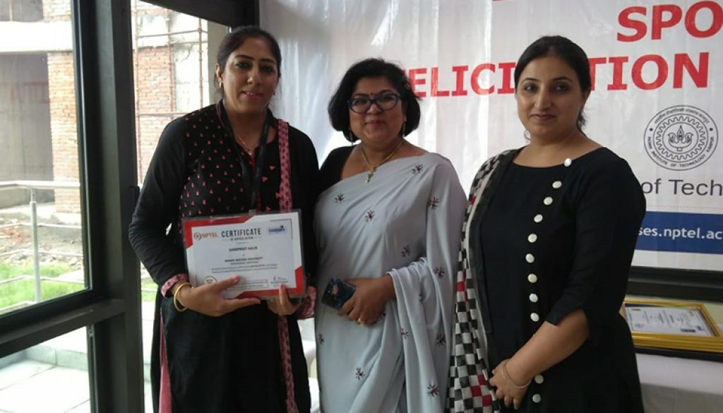 Ms  Manpreet awarded Active SPOC certificate for Local
