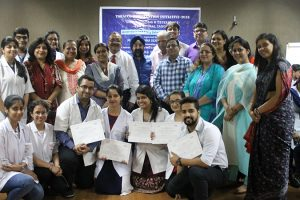 Oral Cancer Screening Camp for support staff of Manav Rachna