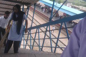 Swachh Bharat Abhiyaan Old Faridabad Railway Station