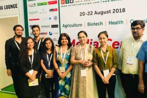 Biotech students visited India 2018 Expo