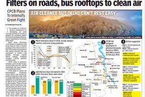 Filters on roads, bus rooftops to clean air - The Times Of India - Delhi, 2018-08-28