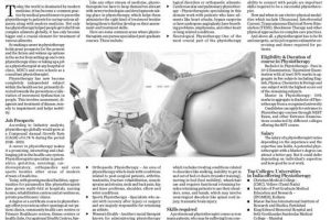 Print Coverage – What can you do with a Physiotherapy Degree?