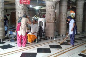 Cleanliness Drive at Shiv Mandir, Sainik Colony