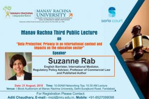 Manav Rachna University organizes Third Public Lecture on 'Data Protection'