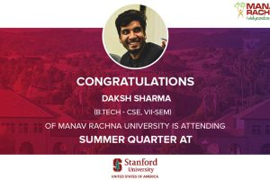 Daksh Sharma, B.Tech. CSE, at Stanford University