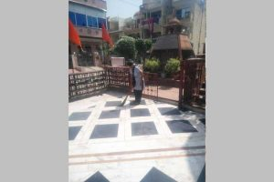 Cleanliness Drive at Shiv Mandir