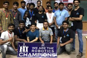 Gold medal at IIT Guwahati Robotics Competition