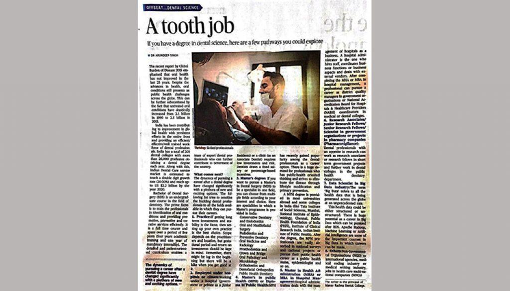 A tooth job