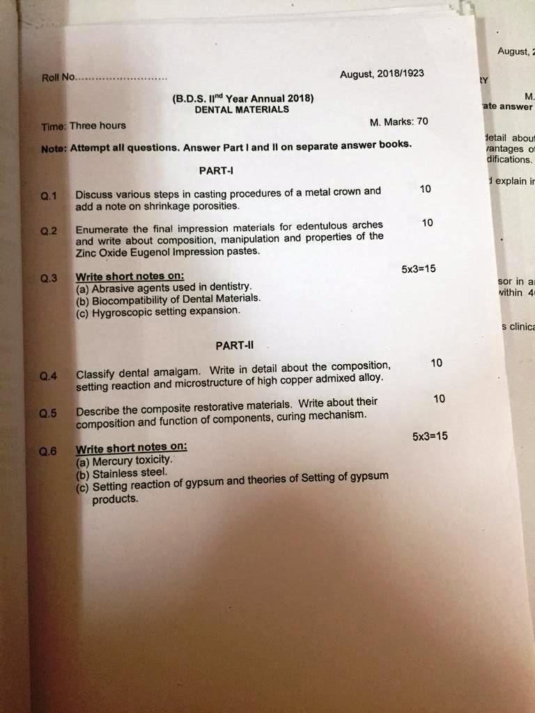 Bds Question Papers Manav Rachna Vidyanatariksha